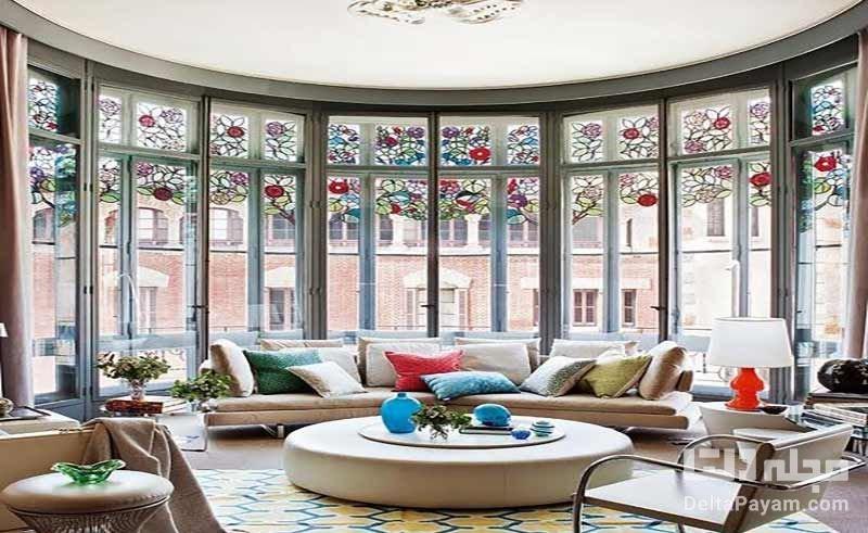 جادوی شیشههای رنگی در دکوراسیون داخلی