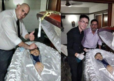 عکس / سلفی بیشرمانه با جسد مارادونا در پزشکی قانونی / همه اخراج شدند