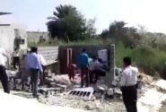 پس لرزه تخریب دردناک خانه یک زن سرپرست خانوار در بندرعباس + فیلم ۱۴+