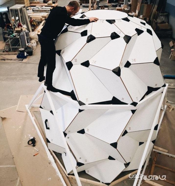 خانهای که با الهام از اوریگامی برای زندگی روی ماه طراحی شده است+عکس