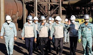 خدا قوت مدیرعامل فولاد مبارکه به کارکنان واحد گندلهسازی