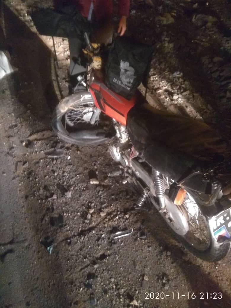 عکس ۱۶+/ ۲ کشته در تصادف شاخ به شاخ ۲ موتورسیکلت