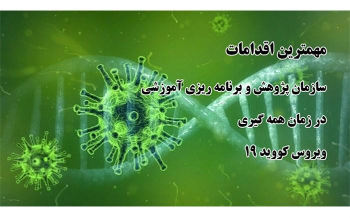 مهمترین اقدامات سازمان پژوهش در دوران همه گیری ویروس کووید ۱۹
