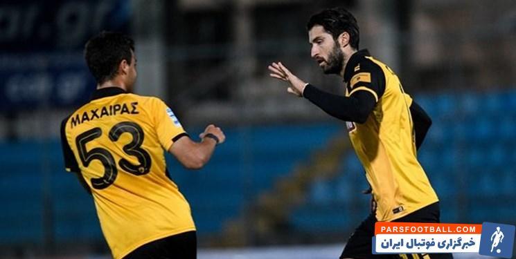 نیمکت نشینی کریم انصاری فرد در بازی آ.اک مقابل لاریسا از هفته نهم سوپر لیگ یونان