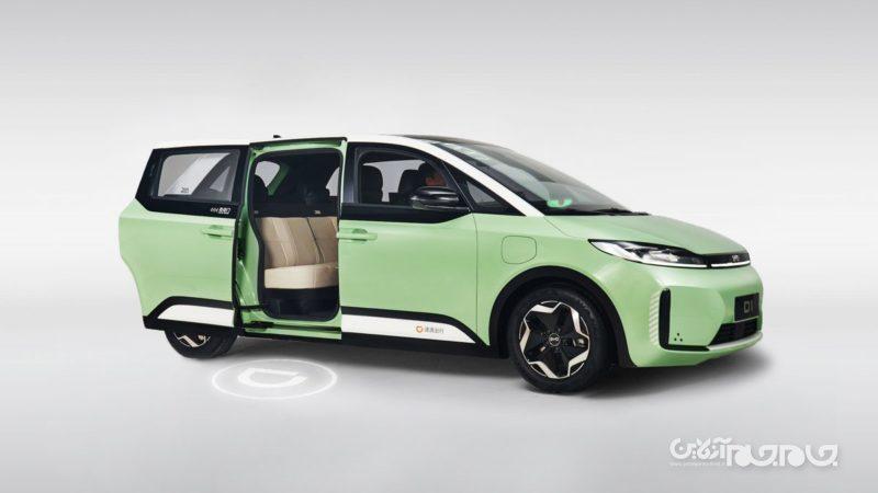 چین اولین خودروی الکتریکی مخصوص سرویسهای اشتراک سفر را تولید کرد+عکس