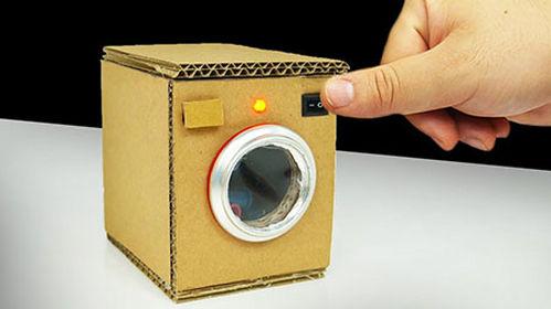 کاردستی خلاقانه ماشین لباس شویی با کارتن