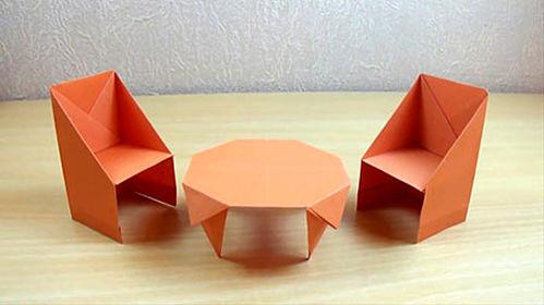 کاردستی میز و صندلی با مقوا