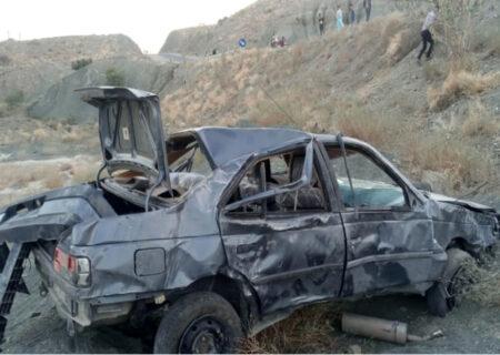 ۷ کشته و زخمی بر اثر واژگونی خودرو در بشاگرد