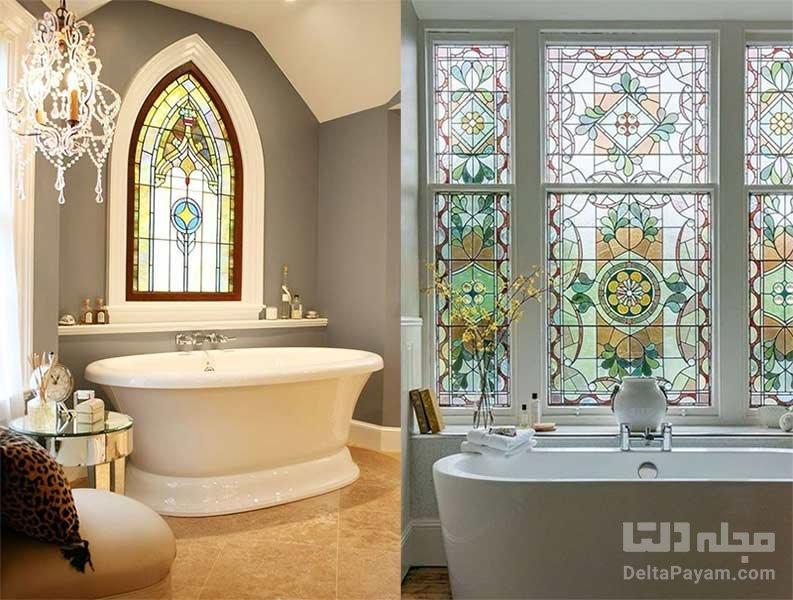 جادوی شیشه های رنگی در دکوراسیون داخلی