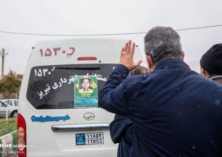 مراسم وداع و تشییع پیکر دکتر نائبی شهید مدافع سلامت در تبریز