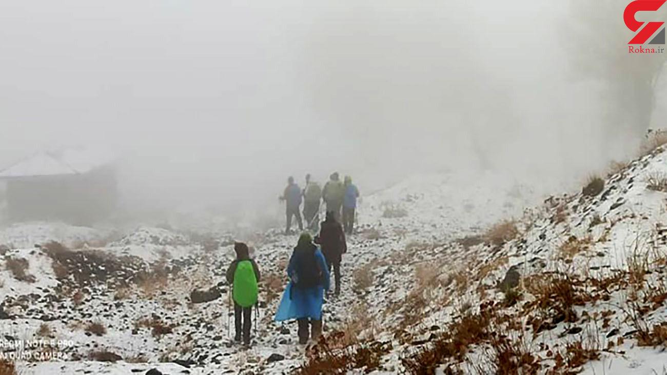 ۹ کوهنورد تهرانی در گردنه کلکچال اسیر برف و کولاک شدند