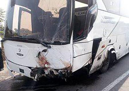 تصادف خونین ۲ اتوبوس در مشهد با ۱۶ مصدوم