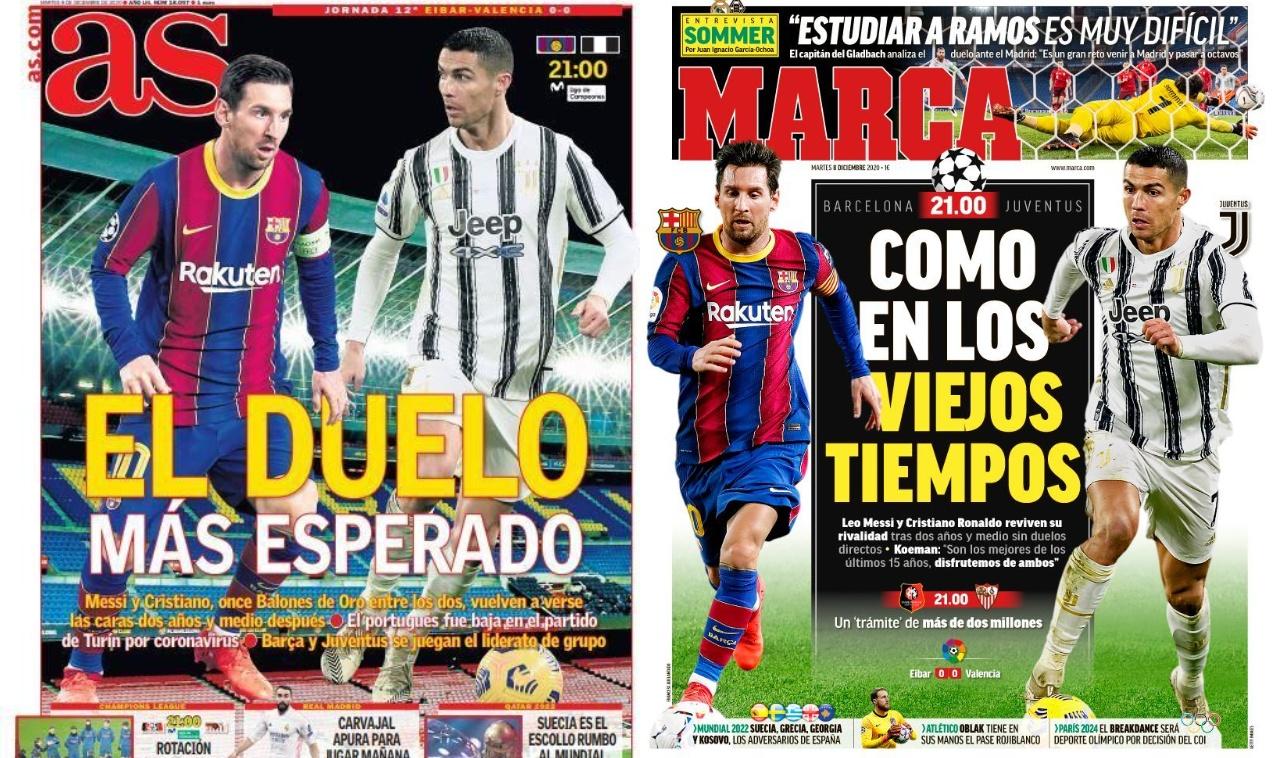 خبرگزاری فارس – نگاهی به مطبوعات اسپانیا   باز هم تقابل مسی و رونالدو؛ زیباترین دوئل فوتبالی