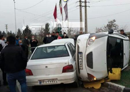 تصادف در اسلامشهر گردن ۲ راننده را شکست + عکس