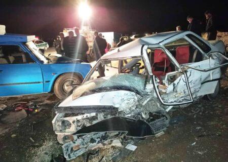 تصادف در جاده بیستون  به سنقر و کلیایی سه کشته و ۱۲ مصدوم برجا گذاشت