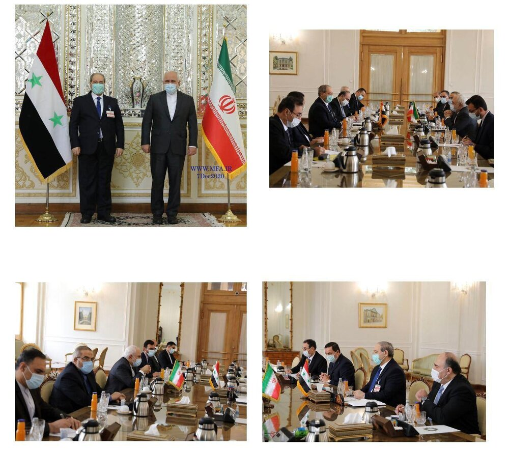 در دیدار ظریف با وزیر خارجه سوریه چه گذشت؟