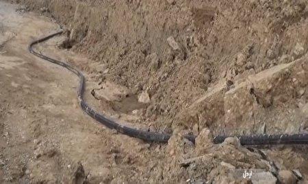 رانش دوباره زمین و قطع آب در افسرآباد اردل