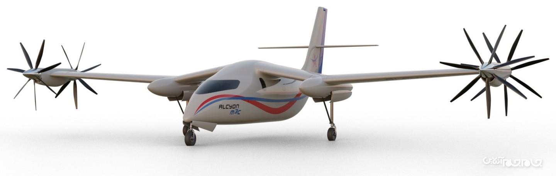 راه حلی برای کاهش زمان پرواز بین شهری؛ طراحی هواپیمای هیبرید+عکس
