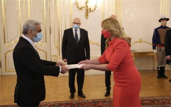 سفیر ایران استوارنامهاش را به رییسجمهوری اسلواکی تقدیم کرد