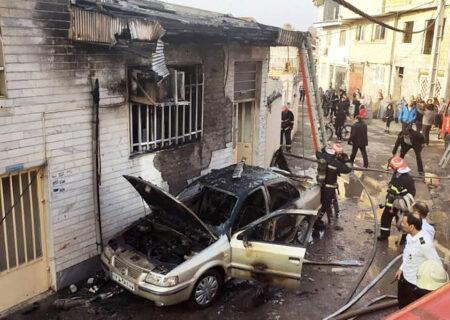 آتش سوزی خانه در رشت / سمند جزغاله شد + عکس