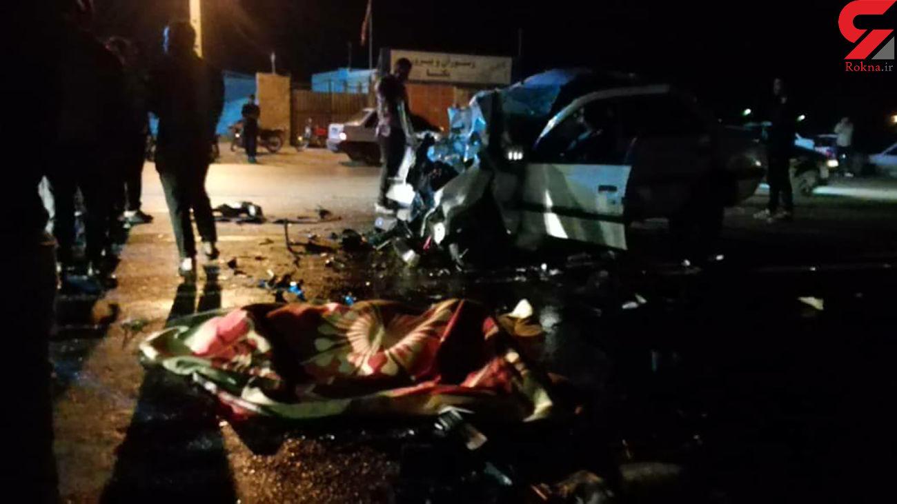 شاخ به شاخ مرگبار پژو ها در بوشهر / ۳ نفر کشته شدند + عکس