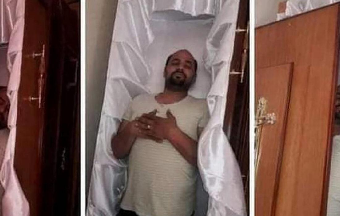 این مرد مرگ خود را پیش بینی کرده بود + عکس