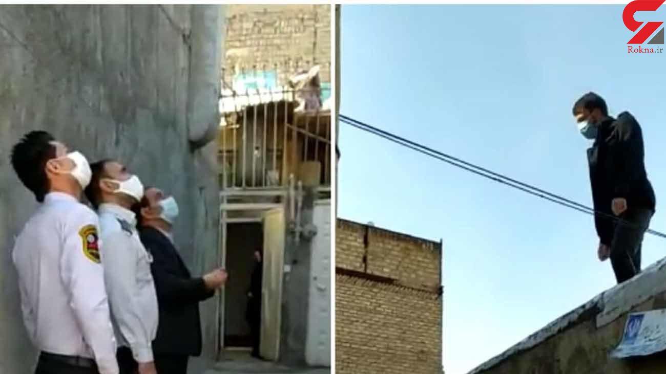 عکس لحظه خودکشی مرد ۳۸ ساله تهرانی + عکس