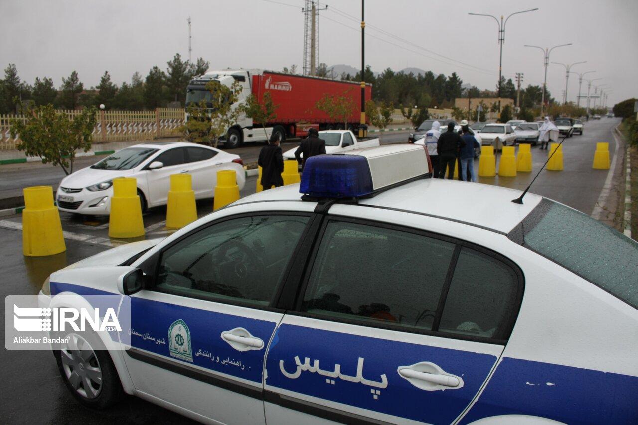 فرمانده انتظامی سمنان: ۱۵۰۰ خودرو در محدودیتهای کرونایی جریمه شدند