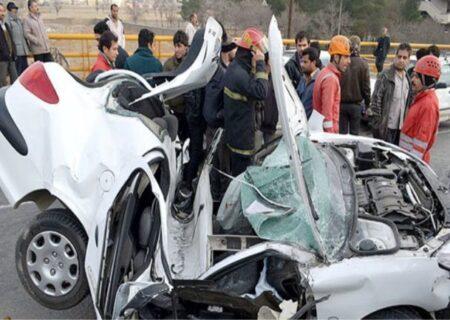 تصادف خونین در بوئین زهرا با ۳ مصدوم