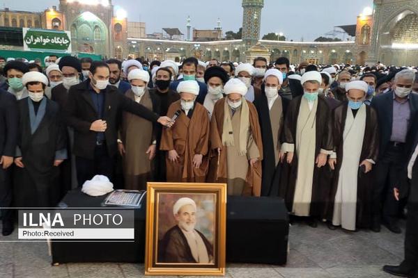 پیکر آیت الله یزدی تشییع شد + گزارش تصویری
