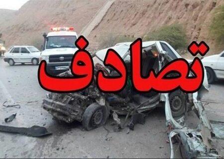 یک کشته و ۶ مصدوم در تصادف جادهای شیراز