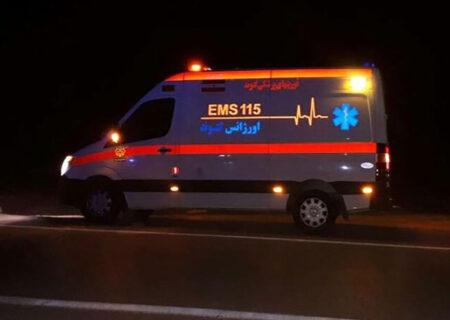واژگونی هولناک پراید سفید رنگ در جاده گتوند / ۲ زن و کودک ۹ ساله راهی بیمارستان شدند