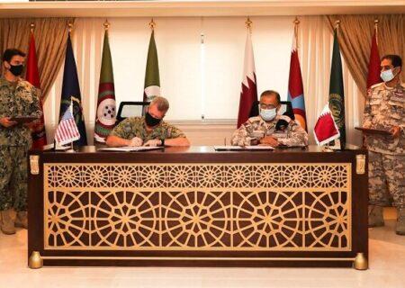 امضای توافقنامه نظامی میان آمریکا و قطر