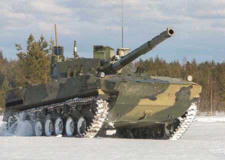 تانک Sprut-SDM1؛ «پرنده» آبی خاکی و سبک روسیه که تا ۷ ساعت در آب «شنا» میکند+عکس
