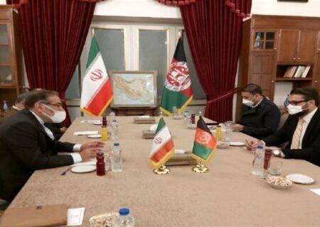 دیدار شمخانی با مشاور امنیت ملی افغانستان