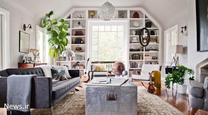 white built in living room ۵ ترفند برای جذاب تر کردن منزل / تجهیز دکوراسیون داخلی منزل به بهترین روش ها