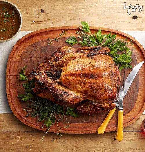 طرز تهیه مرغ شکم پر ؛ مناسب مهمانی ها
