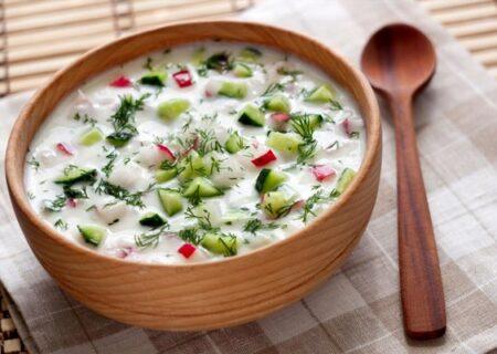 آبدوغ خیار؛ غذایی که به تابستان گرم ما خنکا می بخشد!