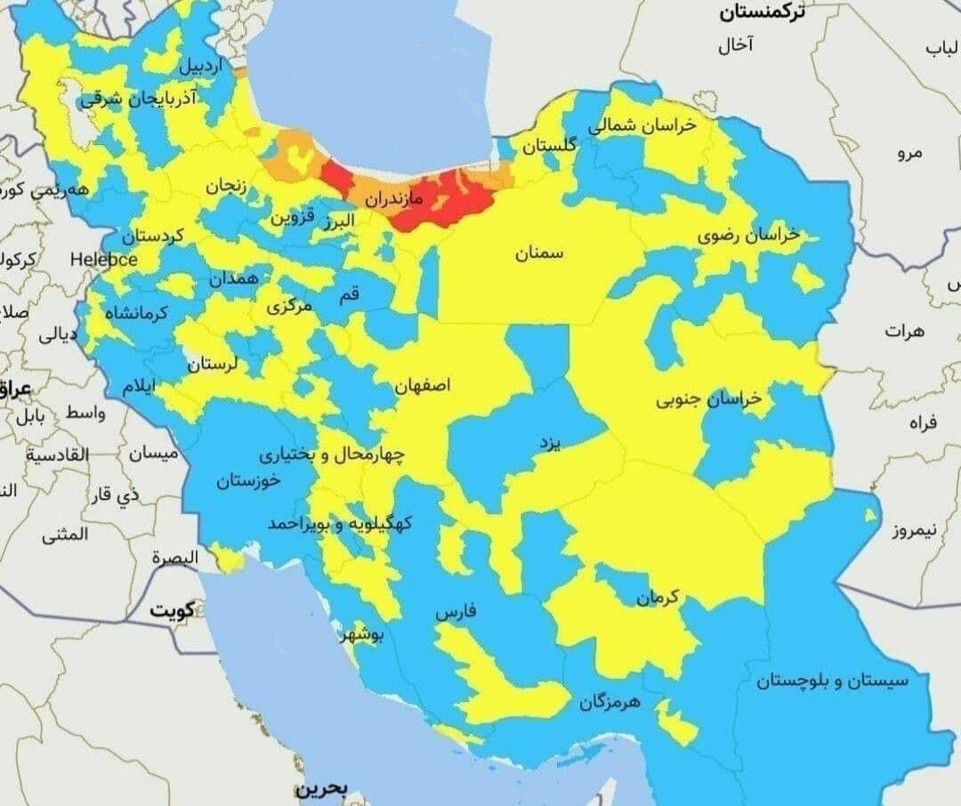 شهرستان همدان نیز در وضعیت آبی کرونایی قرار گرفت