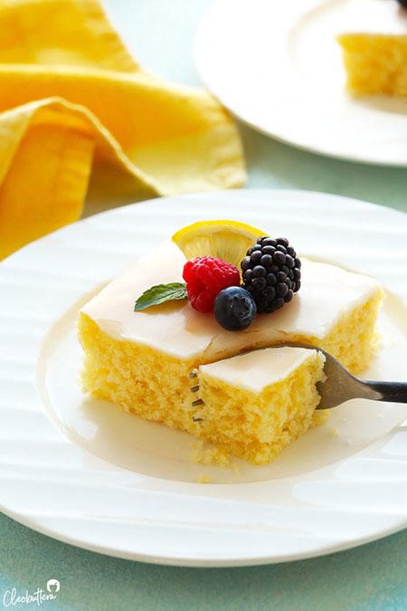 شیت کیک؛ لیموییترین کیک تختهای لیمو
