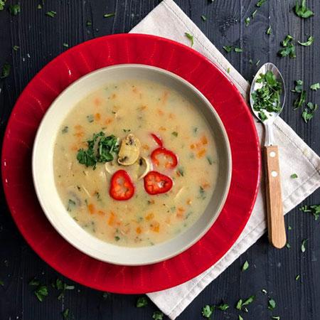سوپ جو سفید/آسان ومغذی!