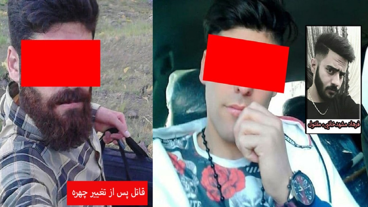 عکس تغییر چهره قاتل فراری در ساوه / قتل به دلیل بدگویی پسرهمسایه
