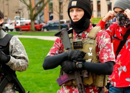 تجمع خطرناکترین گروه افراطی مسلح در ایالت اورگن آمریکا