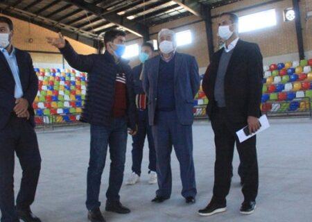 بازدید رئیس  کمیته فوتسال از سالن ورزشی شهر صدرا شیراز