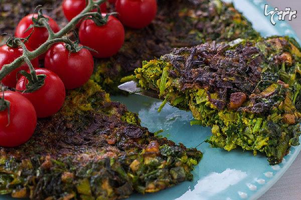یک کوکو سبزی خوب با چه سبزیهایی درست میشود؟