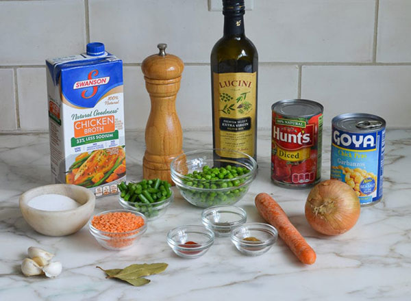 مواد لازم برای سوپ
