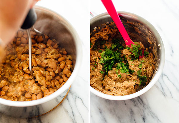 خوراک لوبیا کوفته با لوبیا چیتی