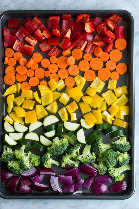 سبزیجات برشته در فر را چگونه درست کنیم