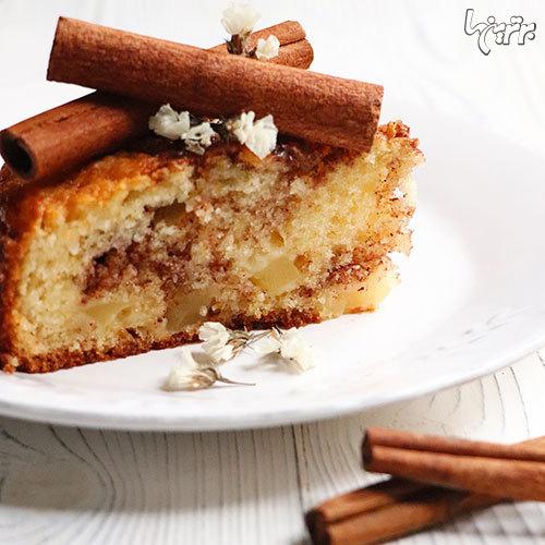 دستور پخت یه کیک سیب خوشمزه با کرم دارچین