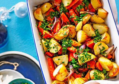 طرز تهیه برشته کردن سبزیجات در فر